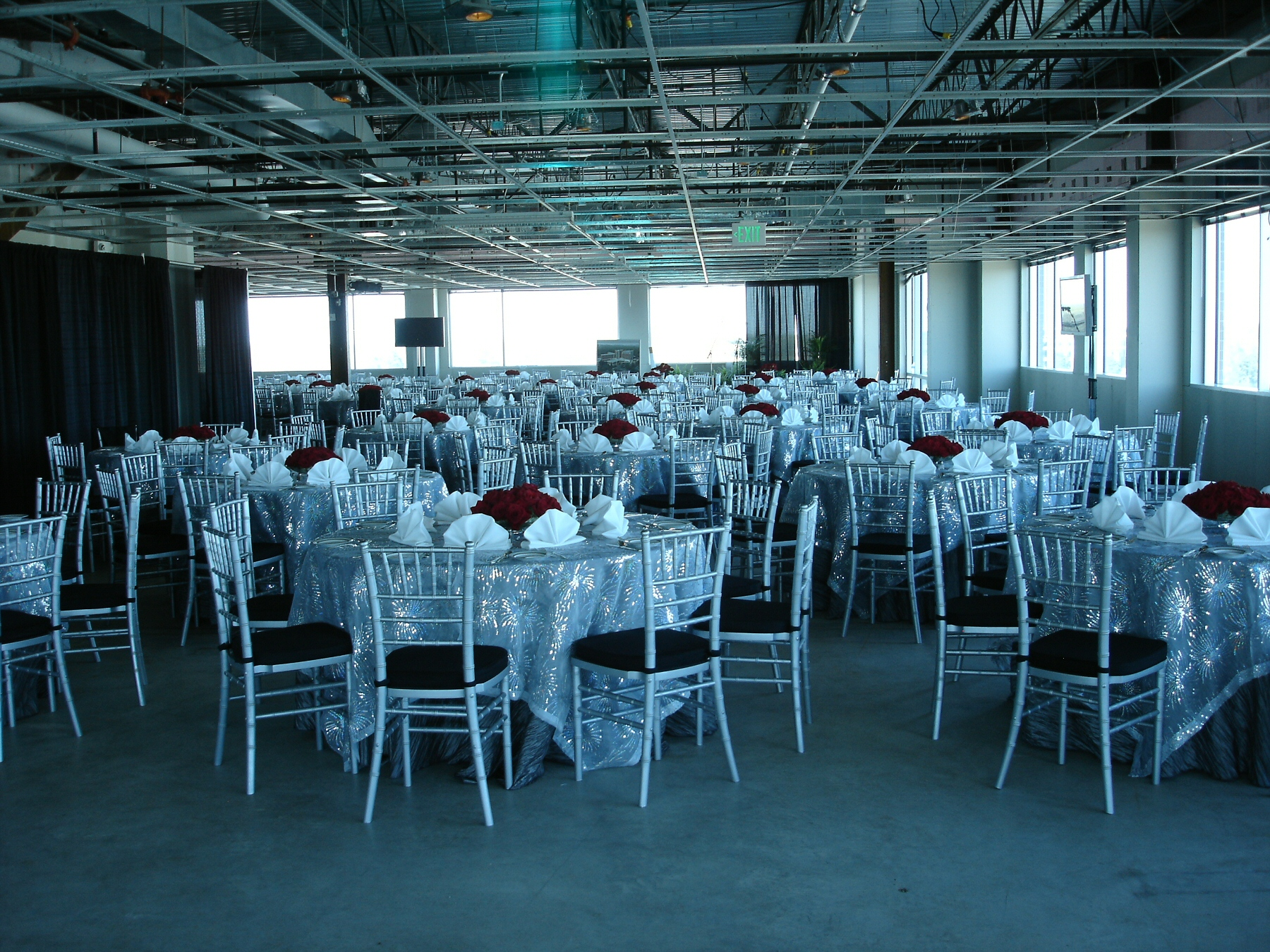 silver chiavari chair event