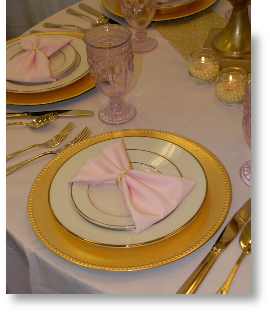 gold-pink table