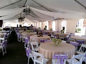 Tent accessories rentals in Middle Tennessee