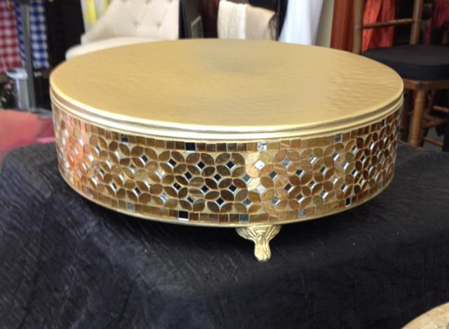 Where to find 16  RD GOLD MOSAIC CAKE STAND in Murfreesboro