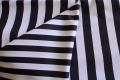 Rental store for 120  ROUND BLACK   WHITE STRIPE LINEN in Murfreesboro TN