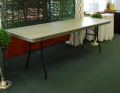 Rental store for 8  PLASTIC BANQUET TABLE  SEATS 8-10 in Murfreesboro TN