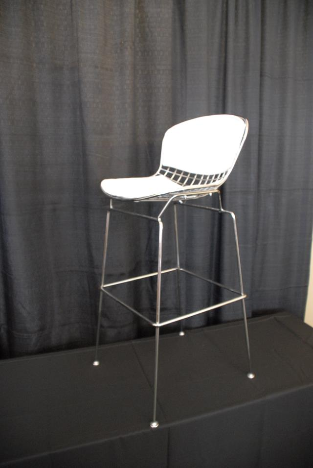 Where to find RETRO BISTRO CHAIR w  PAD  WHITE CROME in Murfreesboro