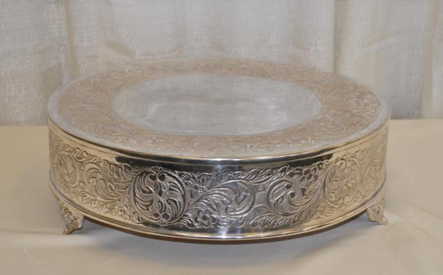 Where to find 22  ROUND SILVER VICTORIAN CAKE STAND in Murfreesboro
