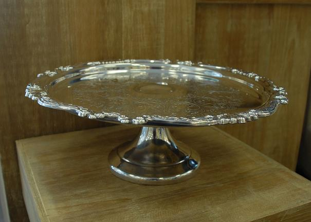 Where to find 12  ROUND SILVER CAKE STAND in Murfreesboro
