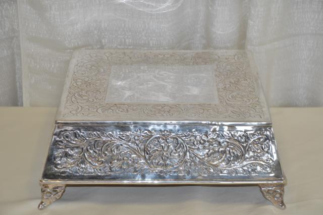 Where to find 14  SQUARE SILVER VICTORIAN CAKE STAND in Murfreesboro