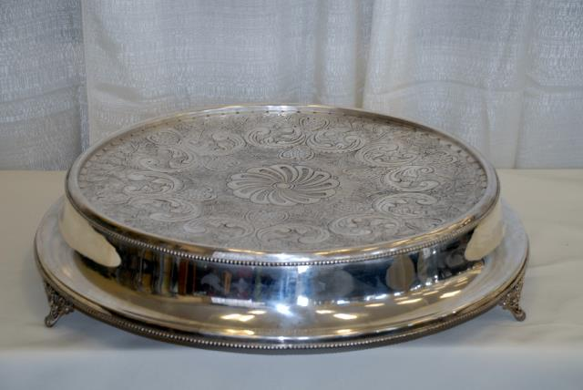 Where to find 18  ROUND SILVER CONTEMPORARY CAKE STAND in Murfreesboro