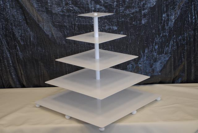 Where to find WHITE 5-TIER SQUARE CUPCAKE STAND in Murfreesboro