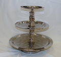 Rental store for SILVER 3 TIER SERVING TRAY  FANCY in Murfreesboro TN