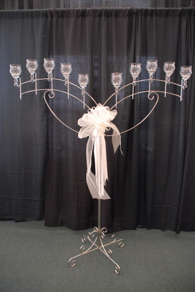 Silver T Light Angel Wing Candelabra Rentals Murfreesboro