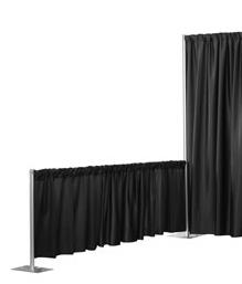 Where to find PIPE   DRAPE BLACK  3 h x 10 w  SECTION in Murfreesboro