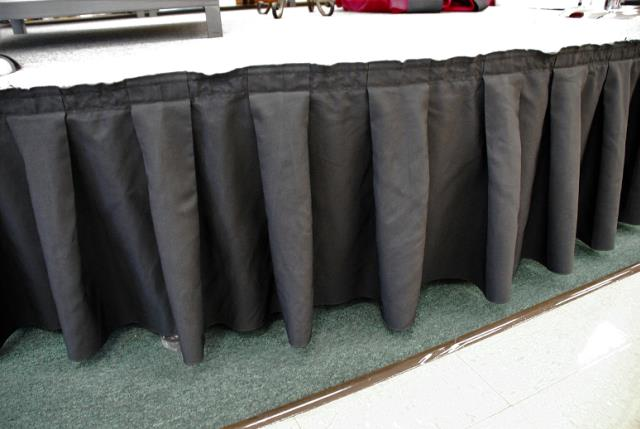 Where to find BLACK STAGE SKIRT 10  X 30  BOX PLEAT in Murfreesboro