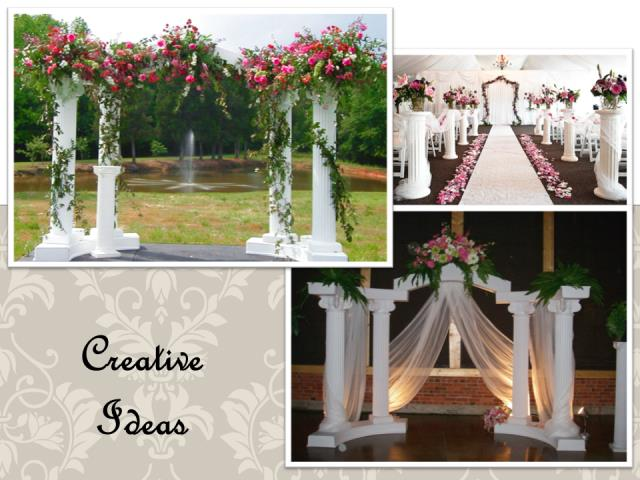 Rent Wedding - Column & Pedestal