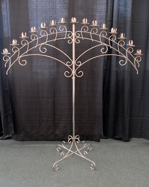 Rent Wedding - Candelabra Silver