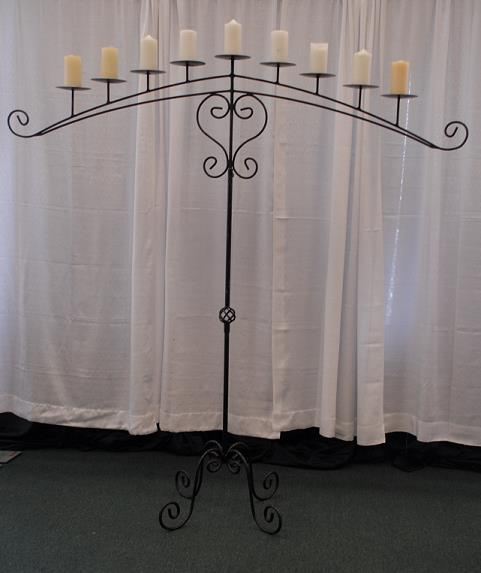 Rent Wedding - Candelabra Black